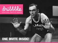 Dribbble Invites... dribbble invite draft issue cover retro