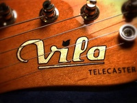 Vila Guitars Logo - Decal application logo vector guitar custom electric luthier solidbody inlay headstock final decal waterslide