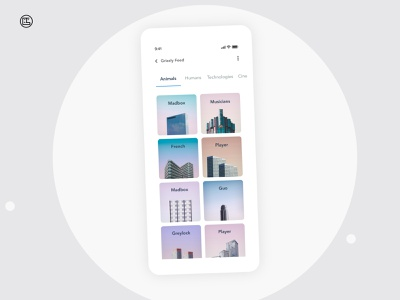 Feed Ideas | Grizzly Mobile App Ui KIt feed shopping app ecommerce products ecommerce app shopping articles listing glassmorphism animation iphone mockup motion ui kit ux design xd ui kit adroid ui kit ios ui kit free ui kit animated mockup dark mode
