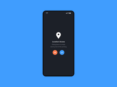 Confirmation Dialogs ideas  | Grizzly Mobile App Ui KIt access location dialogs dashboard screen retro glassmorphism animation iphone mockup motion ui kit ux design xd ui kit adroid ui kit ios ui kit free ui kit animated mockup dark mode