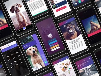 Panda Mobile UI Kit ui kit panda ui kit xd ui kit app design statistics login design adroid ui kit ios ui kit feed list design article design free ui kit onboarding design free app