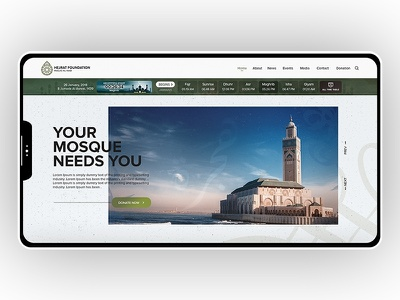Islamic website george samuel praying time mosque hejrat green slider islamic website