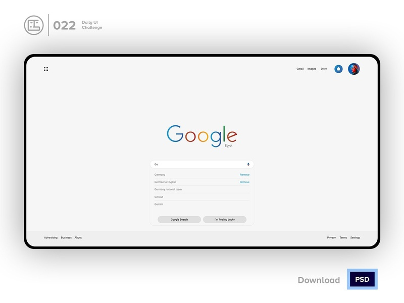 Google Search Redesign | Daily UI challenge - Day 022/100 trendy ux user interface user experience daily ui george samuel freebies free psd interaction design interaction ecommerce dark ui landing page free ui kit hero section animation daily ui 022 input google search search