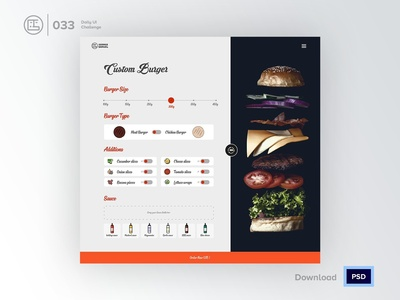 Customize your Sandwich | Daily UI challenge - Day 033/100