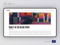 Blog Article Post | Daily UI challenge - Day 035/100