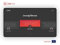 Testimonials | Daily UI challenge - Day 039/100