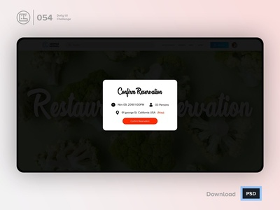 Confirm Reservation   Daily UI challenge - 054/100