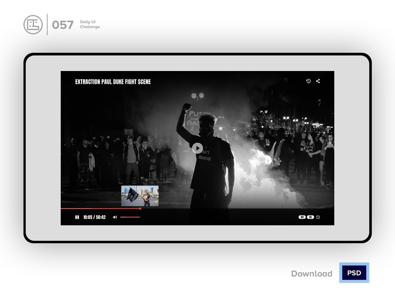 Video Player | Daily UI challenge - 057/100 by George Samuel