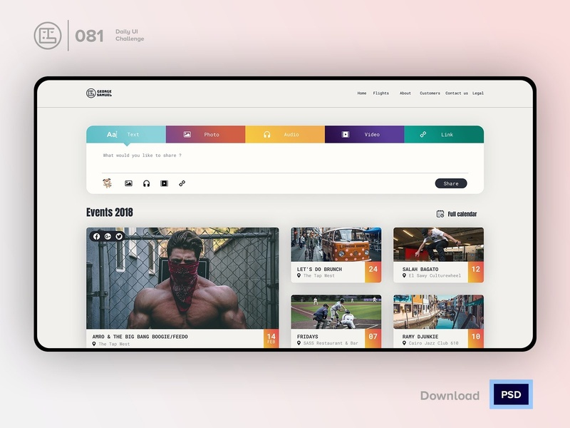 Status Update | Daily UI challenge - 081/100 trendy ux user interface user experience daily ui george samuel freebies free psd interaction design interaction ecommerce dark ui landing page free ui kit hero section animation daily ui 081 update emotions status update
