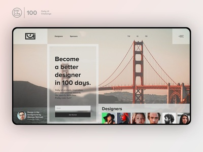 Redesign Daily Ui Landing Page | Daily UI challenge - 00/100