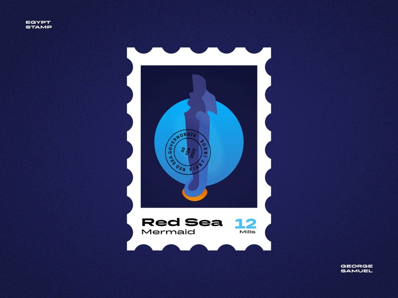 Red Sea Stamp illustration