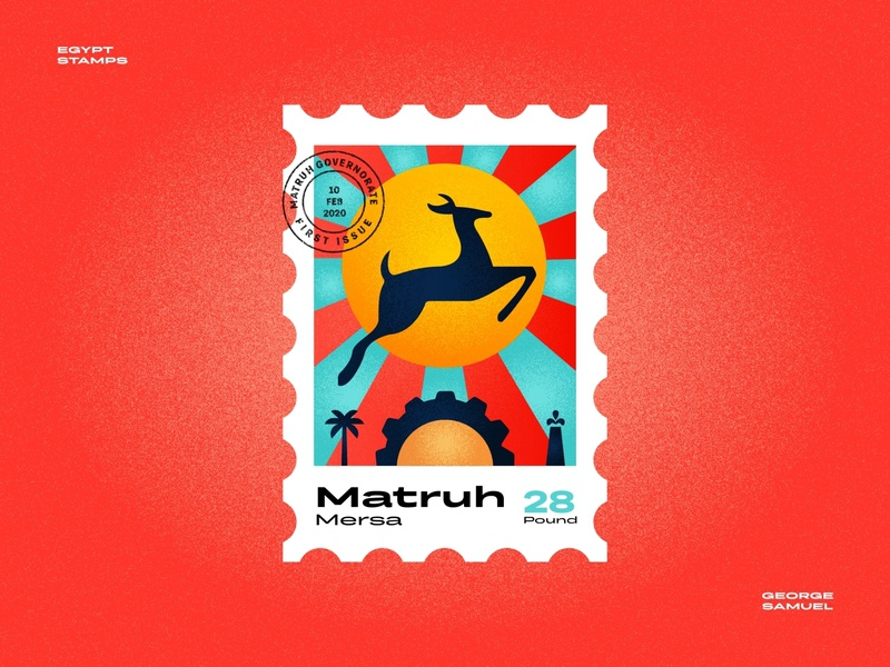 Mersa Matrouh Stamp illustration