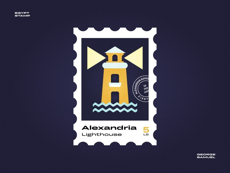 Alexandria Stamp illustration