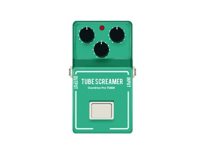 Ibanez TS808 Overdrive Pedal overdrive ibanez guitar gear music pedal guitarpedal illustration