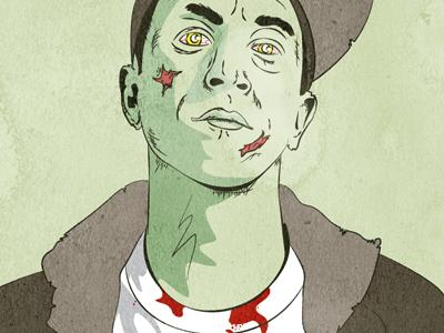 Zombie Flinch zombie illustration vector flinch