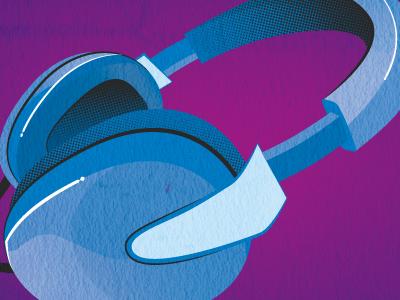 Headphones headphones illustration gradient halftone vector