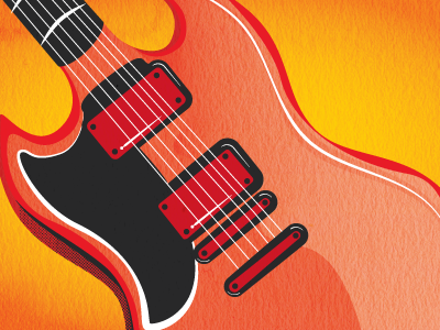 Guitar guitar illustration gradient halftone vector
