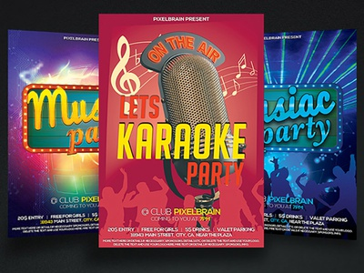 Night Club Party Flyer Template Bundle Vol - 03
