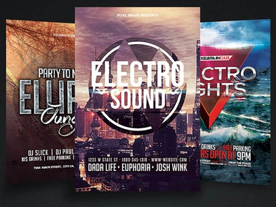 Night Club Party Flyer Template Bundle Vol - 05