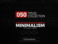 50 Minimal Titles