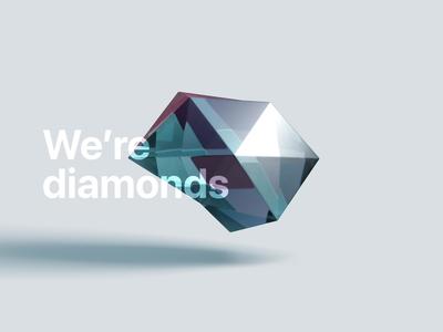 Abstract 3D Diamond
