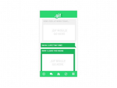 .gift // GIF messaging! gif app messaging
