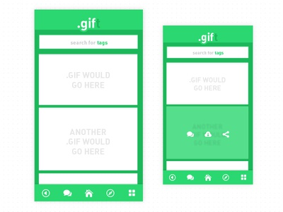 .gift // selecting a gif gif messaging app