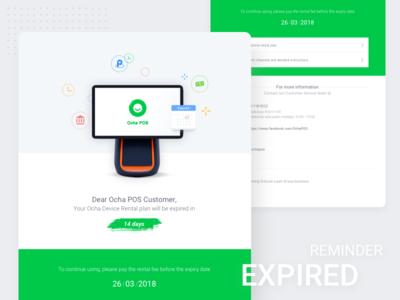 Ocha Email expired reminder design