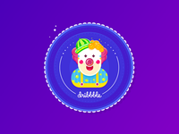 Dribbble Clown Sticker