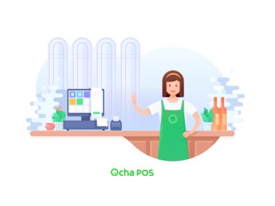 Ocha POS splash page design