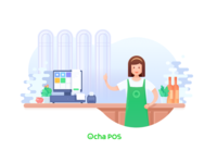 Ocha POS splash page design