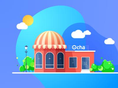 Ocha Shop Illustration