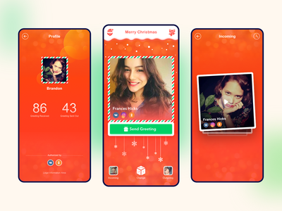 Christmas Greeting APP Design product design app animation ui russian hello greeting christmas