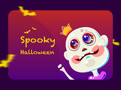 Spooky Halloween cute animal cute scary party halloween illustration