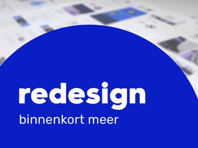 Social media promo: Announcing redesign design typography graphic design