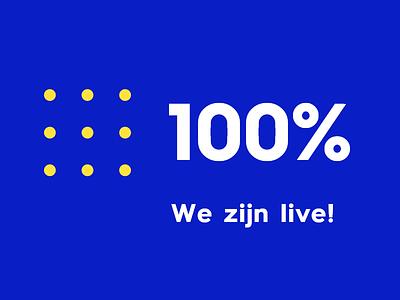 Social media promo: Our website is live! branding graphic design design
