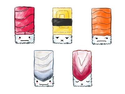 Sushi Family Set 1