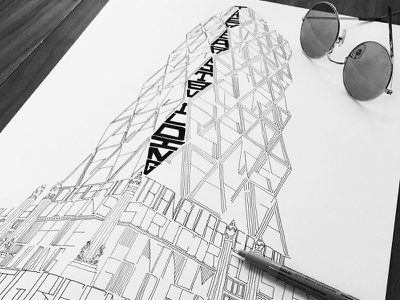 Architype New York: Hearst Building illustration typography architecture