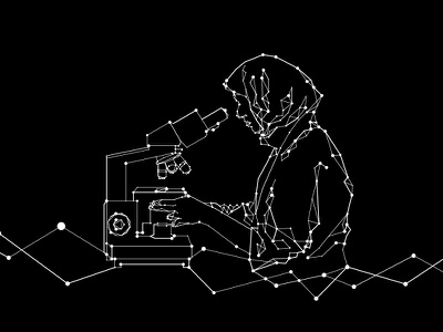 Line+Dots Drawing science graphics illustration