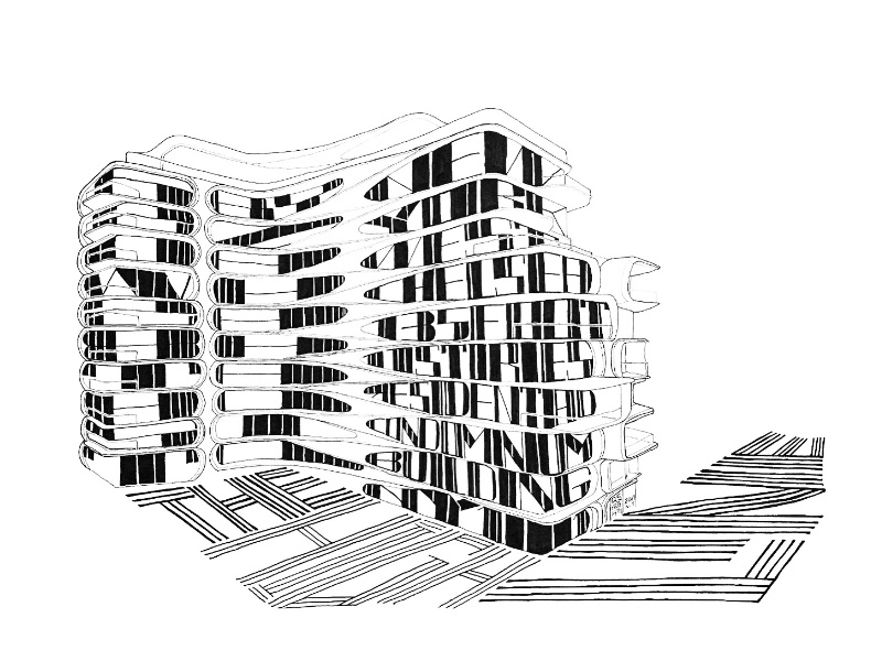 Architype New York: 520 W 28th Street by Zaha Hadid new york zaha hadid letters drawing architecture typography hand lettering lettering