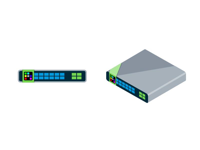 2D and 3D Icon Set server computer adobe illustrator illustration 3d icon icon