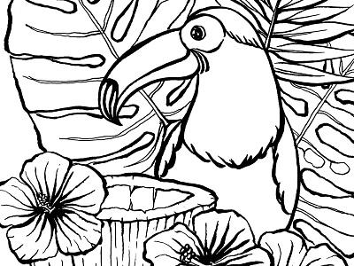 In the spirits of the birds🦅! Spot Illustrations challenge app noquestionsasked new york adventure food artwork brush birds illustration