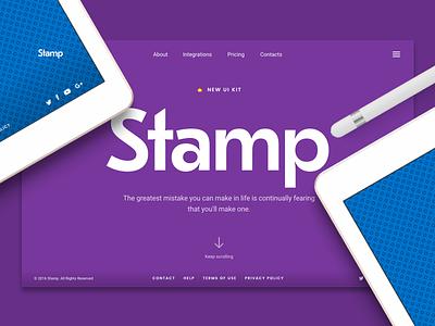 Stamp! ⌒(o^▽^o)ノ stamp cards ui cards ux ui kit ui