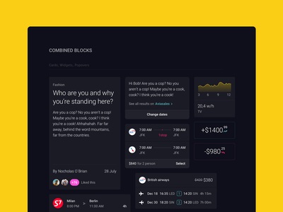 Combined blocks section from📍Pin elements iphone android ios screens ux ui ui kit