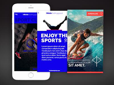 HBC IOS Mobile App Redesign typography iphone ios blue adrenaline sport hotel interface design ux ui mobile