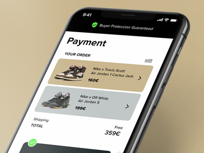 Sneaker checkout Daily UI 002