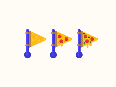 DIY Pizza Flags