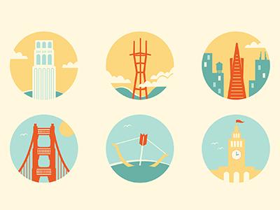 SF Landmark Icons