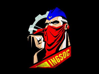 INGSOC | T-SHIRT mask revolution anonymous pioneer george orwell tshirt orwell 1984 newworldorder