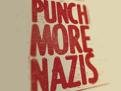 Punch more nazis t-shirt antifa nazi punch destroyed typography
